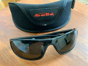 11672 Matte Blue Frame w// Polarized TNS Gun Lens Bolle Anaconda Sunglasses