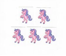 5 x Glitter Pink Unicorn Temporary Tattoos -  Great Kids Party Favours