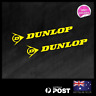 2x DUNLOP TYRES MEDIUM STICKER DECAL MOTOCROSS MOTOR CYCLE CAR RACING 150x33mm