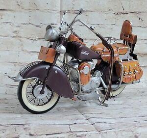 Rétro Artisanat Simple Voyage Décoration Marron Indien Moto Modèle Cadeau