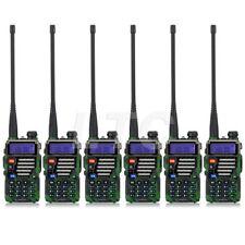 6X Baofeng Uv-5R Plus Qualette Dual Band Two way Radio Walkie Talkie + Antenna