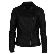 Solo LAVA Faux Leather Jacket donna Taglia 14 (L) Rif c1564 #