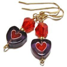 Millifiori Glass Heart Valentine Earrings By SoniaMcD