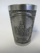 "Snow White Cinderella Pewter Grimm'S Fairy Tale Engraved 95% Pewter 3 3/8"" Cup"