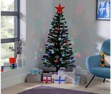 Argos Home Fibre Optic Coloured Lights Christmas Tree - 5ft