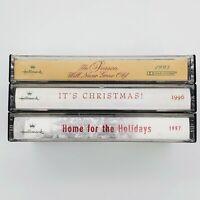 Cassette Tape Lot of 3 Hallmark Christmas Tapes