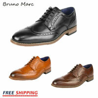 Bruno Marc Mens Dress Shoes Formal Casual Shoes Brogue Derby Oxford Shoes