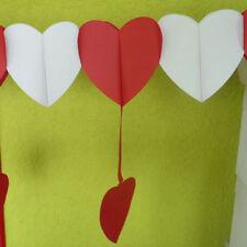 Dekogirlande Ghirlanda Matrimonio Cuori Rosso Bianco 4,0m