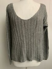abercrombie and fitch Womens Acrylic Wool Blend Knit Grey Jumper Size L