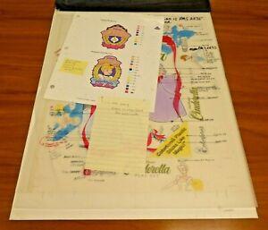 One of A Kind Disney's Original Cinderella Colorforms Art Layout 14x18