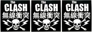 The Clash Logo Sticker [Lot of 3] Memorabilia Classic Punk Rock Emblem Insignia