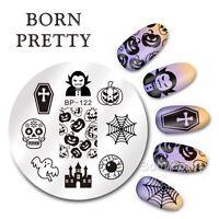 BORN PRETTY Nagel Kunst Stamping Schablone Platte Halloween Design BP122
