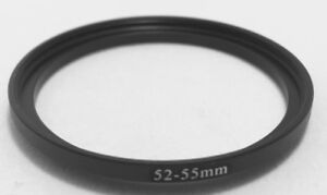 Filter And Lens Adapter Ring 52mm Step Up 55mm, 52mm-55mm