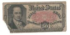 1875 Fifth Issue Fifty Cent Fractional Currency- Crawford 50 Cents