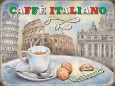 Caffé Italiano Coffee Food & Drink Cafe Shop Kitchen Diner Medium Metal Tin Sign