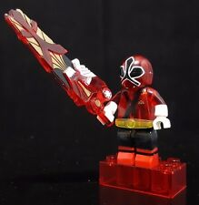 Mega bloks Power Rangers 5714 Series 1 S1 Translucent Samurai Red Ranger