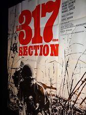 LA 317 ème section Pierre Schoendoerffer affiche cinema 1964 indochine