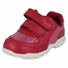 Girls First Shoes by Clarks Sports Trainers Brite Play UK 5.5 Infant Pink G