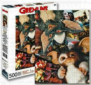 500 piece Jigsaw Puzzle Cult Horror Movie GREMLINS Collage Licensed by AQUARIUS