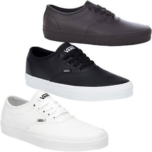 Vans Mens Doheny Decon Leather Low Rise Casual Laced Trainers Sneakers Pumps