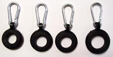 """""""4 RINGS W/ CARABINER CLIPS"""" flag pole hooks can hold 3 flags replacement part"""