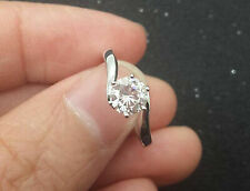 14k White Gold Round 1.25ct CZ Engagement Solitaire Ring