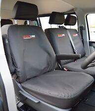 VW Transporter T5 Sportline Waterproof Heavy Duty Tailored Seat Covers Black