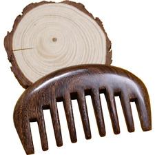 Handmade Wide Tooth Hair Comb Wooden Sandalwood Brush Customize Logo