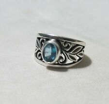 James Avery ** Abounding Vine Ring With Blue Topaz ** Size 7 ** 925 ** Retired