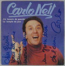 Dédicace Carlo Nell 45 tours 1980