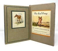 John Steinbeck - The Red Pony - 1st 1st HC w/ Slipcase - Author Of Mice & Men