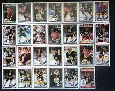 1991-92 Topps Boston Bruins Team Set of 27 Hockey Cards