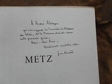JEAN MORETTE.METZ.LE REPUBLICAIN LORRAIN.1/100 EX. de luxe.Envoi à André ALAUZEN