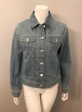 Jones New York Sport Light Blue Denim Jacket Size M