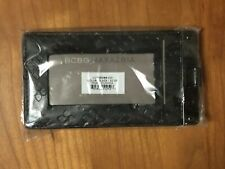 BCBG MAXAZRIA Metallic Black ID CARD TRIFOLD WALLET CLUTCH Badge Holder