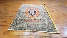 "Beautiful Vintage 1940-1950's Wool Pile Vegy Dye, Bunyan Rug 2'1"" x 3'7"""