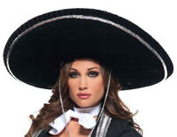 Mariachi Hat Adult Black Sombrero Mexican Hispanic Costume Jumbo Big Large