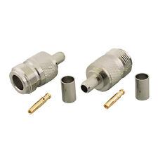10 Stück N Crimp Lötverbinder für RG8X LMR-240 KSR-240 0,240 Zoll