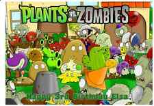 A4 Edible PLANTS VS ZOMBIES Personalised  Birthday Party Icing Cake Topper Deco