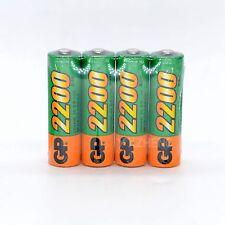 4pcs Original  GP 1.2V NiMh 2200mAh AA Rechargeable Battery Real Capacity