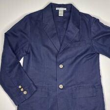 Janie & Jack Boys Navy Linen Suit Jacket - Size 6 - Wedding; Formal; Dress Up