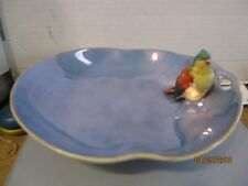 RARE Early 1900's Japan  Noritake figural lusterware bird in blue bowl b128