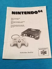 Official Vintage Nintendo 64 System Manual N64 Console Instruction Booklet ONLY