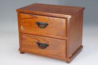Japan HIDA TAKAYAMA KEYAKI Wood KOTANSU Small Chest SHOWA Vintage F/S 210f10