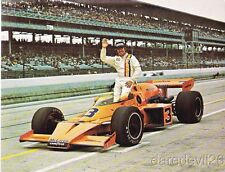 1974 Johnny Rutherford McLaren Offy Indy 500 Winner Indy Car postcard