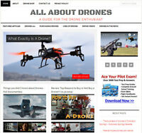 [NEW DESIGN] * DRONES * blog niche website business for sale AUTOMATIC CONTENT!