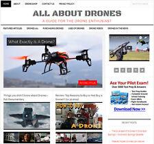 New Design Drones Blog Niche Website Business For Sale Automatic Content