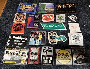 VTG Stickers LOT OF 20 90's~ HIP-HOP ~PROMO~ #2 SWV, Professorr X & More!