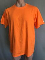 BNWOT Mens Sz XL Champion Brand Orange Stretch Short Sleeve T Shirt Tee Top