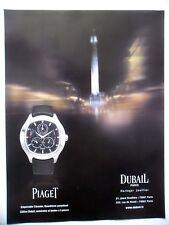 PUBLICITE-ADVERTISING :  PIAGET Emperador Coussin Dubail  2014 Montres